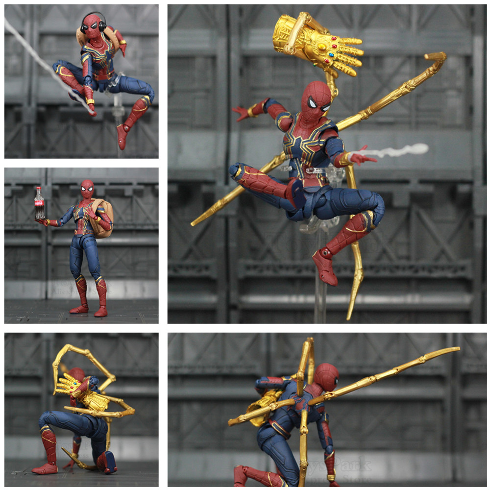 """Marvel Avengers Iron Spider Man 6"""" Movie Action Figure Tom Holland Legends Spiderman Far From Home Endgame Toys Doll KO's SHF-in Action & Toy Figures from Toys & Hobbies"""
