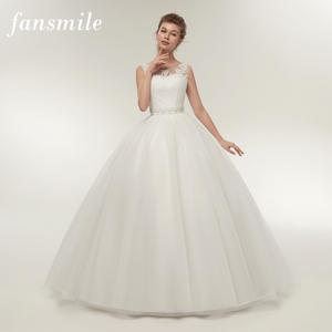 dc2ab5c4ed2a Fansmile Ball Wedding Dresses Plus Size Bridal Wedding Gown