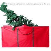 Christmas Tree Storage Bag Waterproof Oxford Cloth Xmas Gifts Box Foldable Travel Luggage Package Organizer Rolling Tree Bags