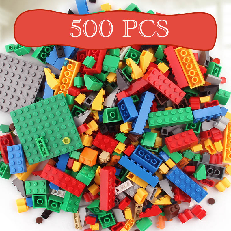 500pcs Bricks Designer Educational Building Blocks DIY Toys  Creative Bricks For Child  Gift Assembly Toys Compatible Lego 1000pcs designer diy gift toy building blocks bricks constructor set educational assembly toys compatible with legoingly bricks