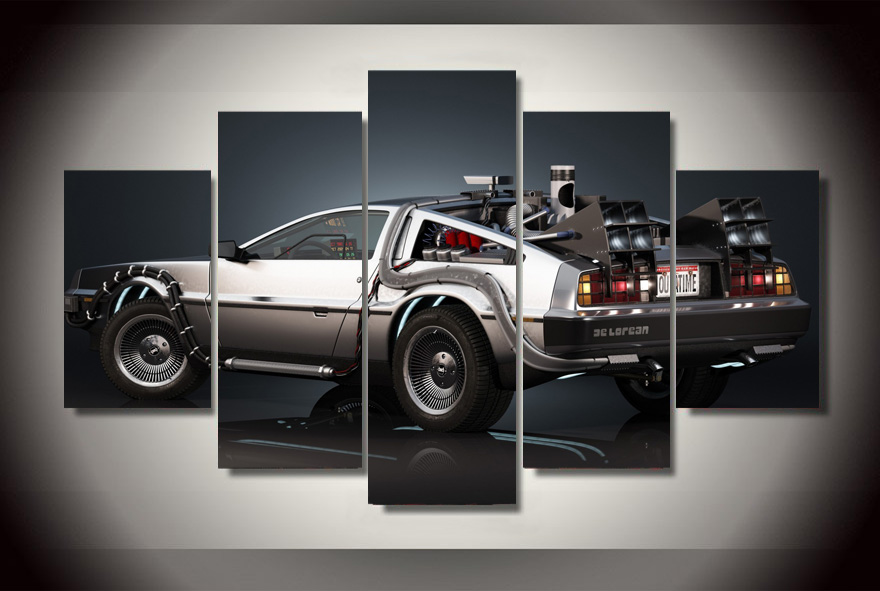 hd printed super race car 5ps picture painting wall art childrens room decor poster canvas free