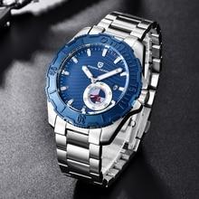 PAGANI DESIGN Luxury Brand Men Watches Business Stainless Steel Waterproof Sport Watch Chronograph Quartz Wristwatch diving
