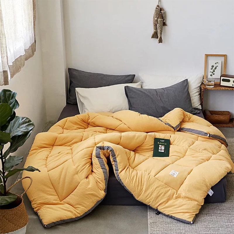 Luxury Thicken Winter Camel Hair Quilt Quality Stitching Comforter/duvet/blanket King Queen Twin Size Free Shipping
