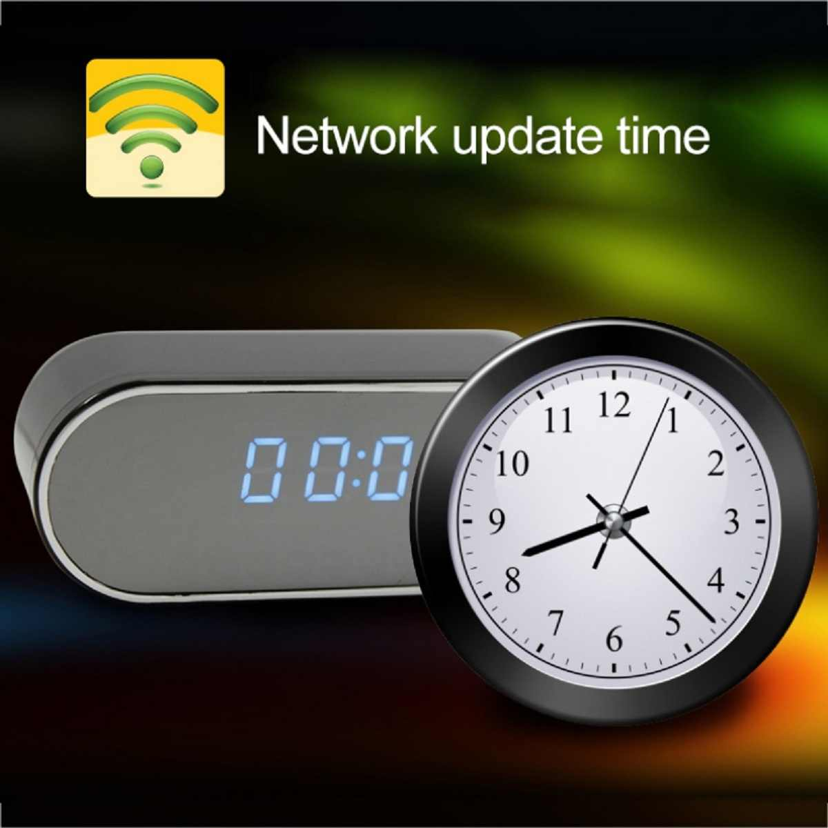 JRGK 1080P HD Clock Camera WIFI Control Concealed IR Night View Alarm Camcorder PK Z16 Digital Clock Video Camera Mini DV DVR