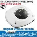 Hik DS-2CD2542FWD-IWS 4MP Câmera IP Wi-fi Câmera IP Wifi POE Câmera Dome Ao Ar Livre Câmera de Segurança de Rede P2P