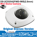 Hik IP Camera Wifi 4MP DS-2CD2542FWD-IWS Wifi IP Camera POE Outdoor Dome Camera Network Security Camera P2P