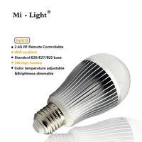 2 4G Wireless E27 9W 2700 6500K Smart LED Dual White Cool Warm White Bulb MiLight