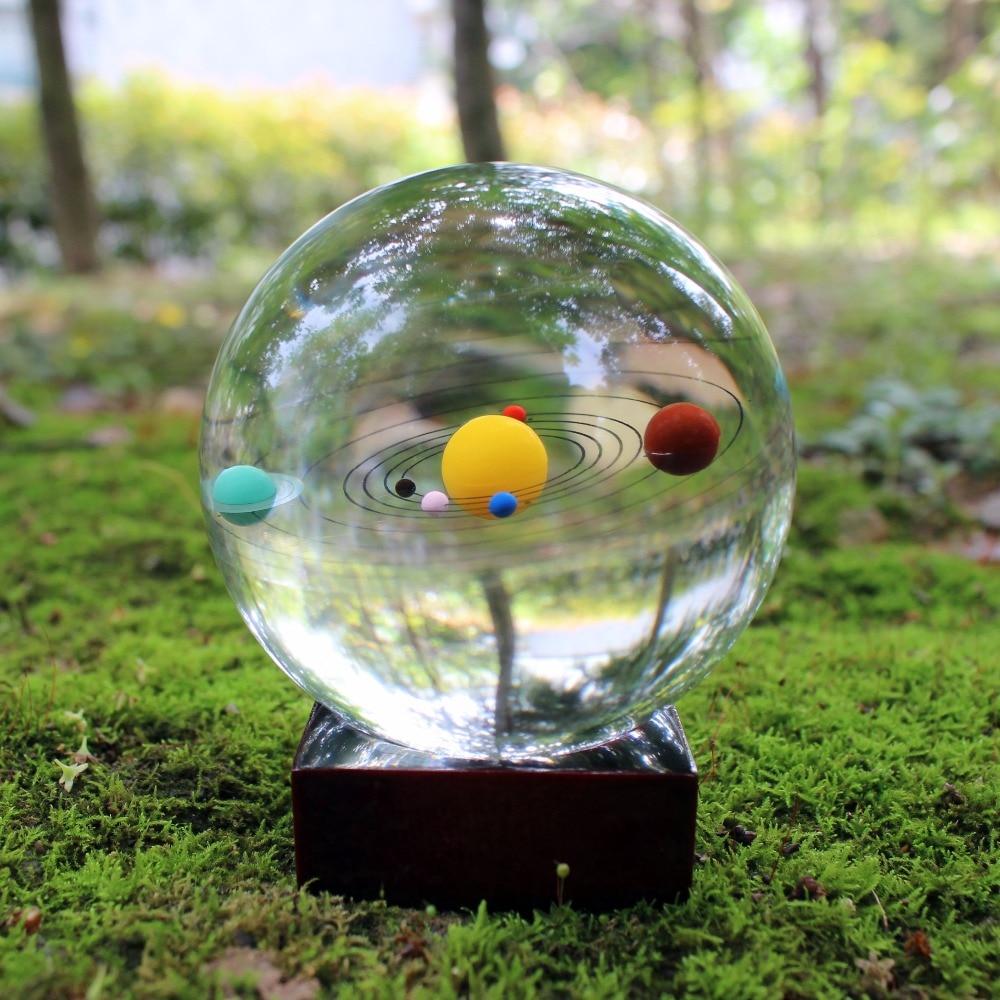 Livrare gratuită Astronomie Galaxy 8 Planete de cristal din sticlă solară Accesorii pentru decorațiuni de casă