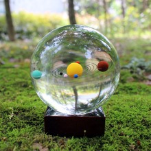 Free Shipping Astronomy Galaxy 8 Planets of the Solar Crystal Glass Ball Home Decoration Accessories