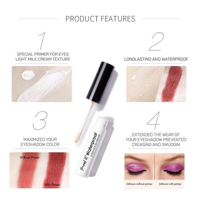 Professional Makeup Eyeshadow Primer Eye Base Moisturizing Liquid Primer Longlasting Waterproof Concealer Women Cosmetics Eyelid 3