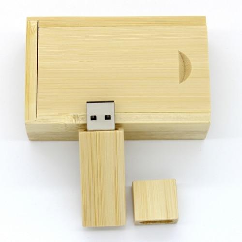 Hot Sale Gift CreativeBamboo Wooden USB Flash Drive Pen Drive Mini USB 3.0 Memory Stick + Box 64GB 8GB 16GB Pendrive 32GB 1TB