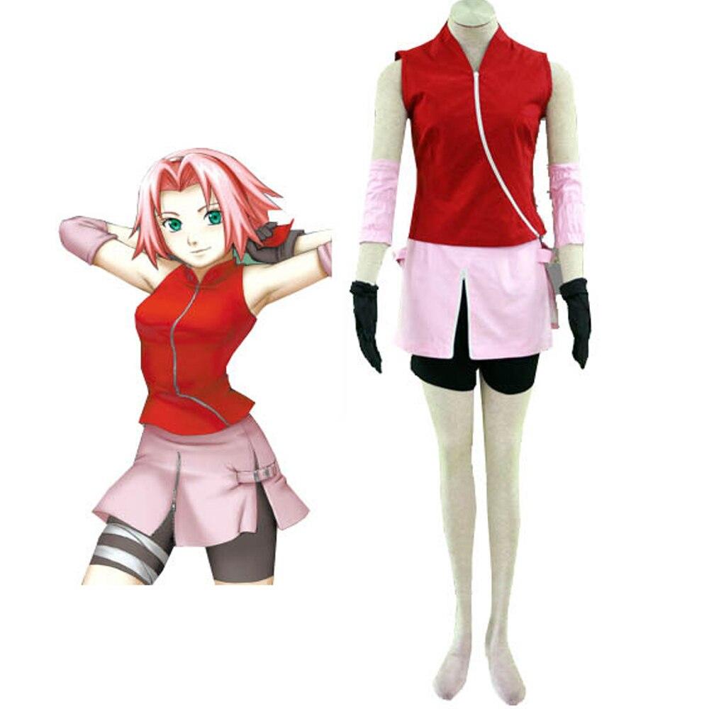 Hero Catcher font b NARUTO b font font b Cosplay b font Costume Haruno Sakura font