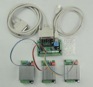 CNC Router 3 Axis Kit,TB6600 3 Axis Stepper Motor Driver Controller kit 4.5A mach3 + one 5 axis breakout board(China)