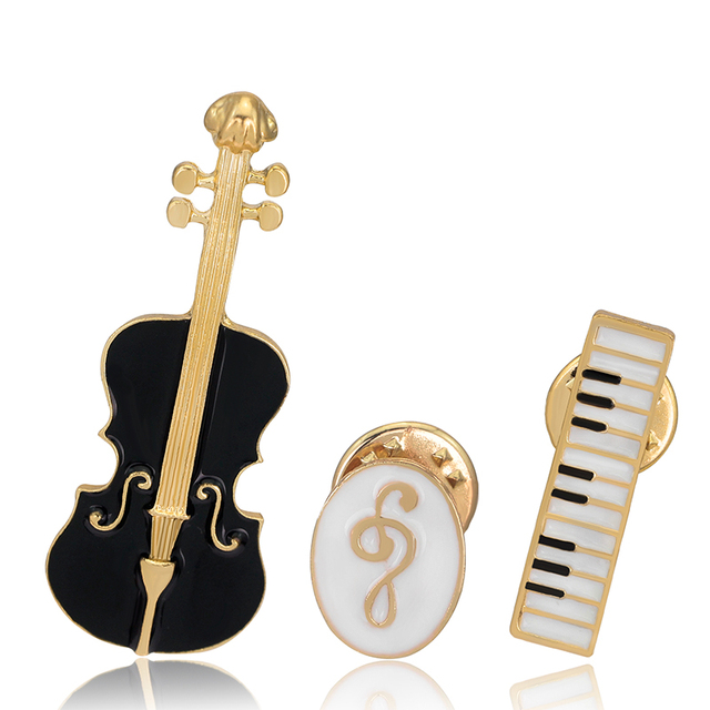 Aliexpress Buy Enamel Vintage Alloy Drip Brooch Violin Music Symbol Keyboard Instrument Combination Brooches For Women Wild Corsage Brooches