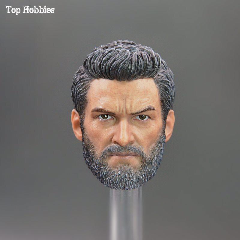 Custom 1/6 Scale Accessoires Wolverine 3 No neck Head Rogan Hugh Jackman Head sculpt Man/Male Fit 12 Inch Hot toys doll