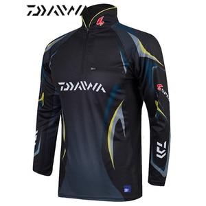 Image 4 - Daiwa Camiseta de pesca para hombre, camisetas de pesca profesionales UPF 50 +, ropa de protección solar, camiseta de pesca transpirable, novedad de verano