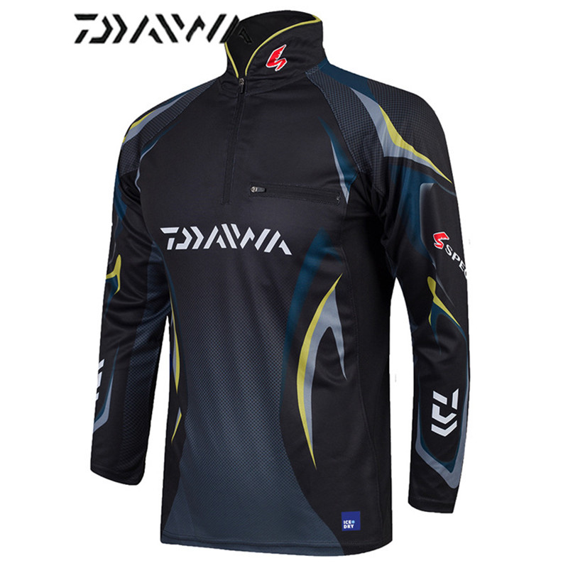 Image 3 - Daiwa brand 2018 autumn new men professional fishing t shirts UPF 50+ sunscreen clothing breathable fishing shirt-in Fishing Clothings from Sports & Entertainment