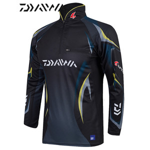Image 4 - Daiwa brand fishing shirt Summer new men professional fishing t shirts UPF 50+ sunscreen clothing breathable fishing shirt
