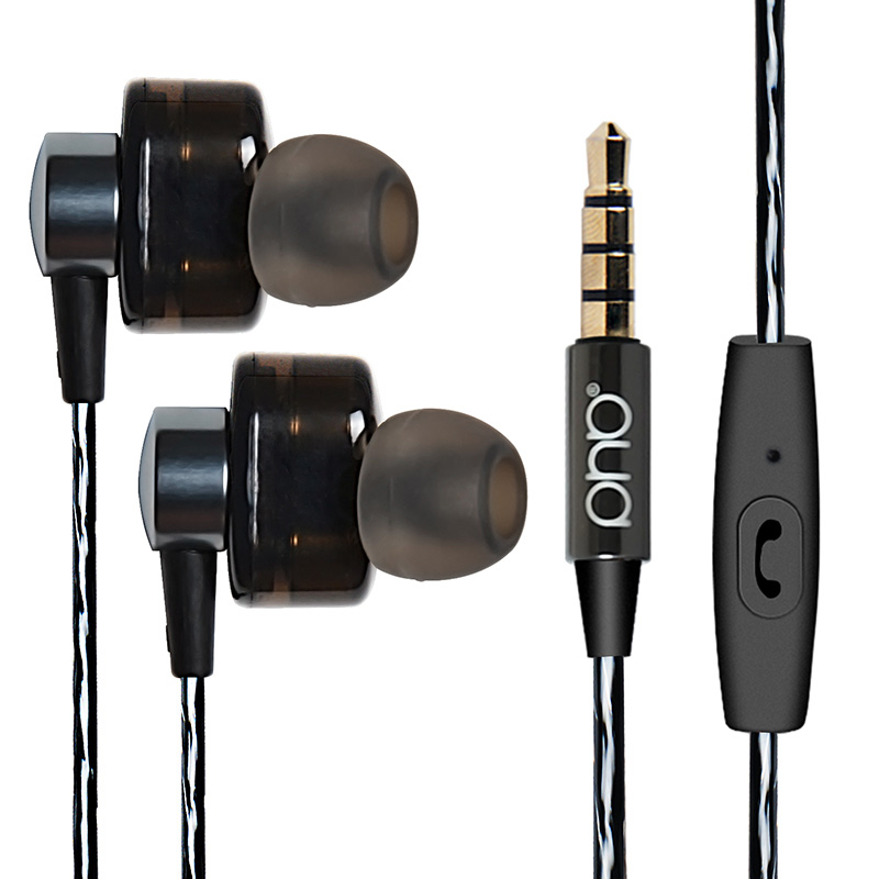 EP012 double action coil in ear headset With microphone Wired headphone Four Core Extra Bass 4D Stereo Gaming Headset in Phone Earphones Headphones from Consumer Electronics