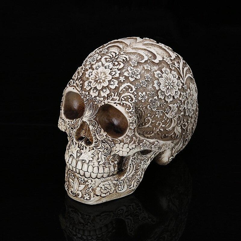 Home Decor Resin Craft Plum Blossoms Sculptures Garden Statues Creative Art Carving Statue Medical Model Human Resin Skull