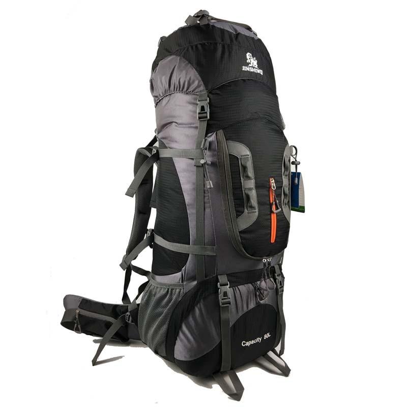 80L Альпинистский рюкзак из парусины Наружный тактический рюкзак Походный кемпинг рюкзак Нейлоновый рюкзак Планка рюкзака для путешествий ...