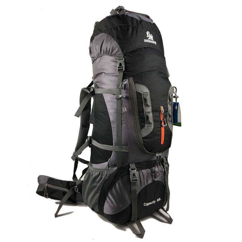 80L rucksack climbing bag outdoor tactical backpack camping hiking backpacks nylon bag Aluminum alloy frame travel backpack 80l camping hiking backpacks big outdoor bag backpack nylon superlight sport travel bag aluminum alloy support 1 65kg