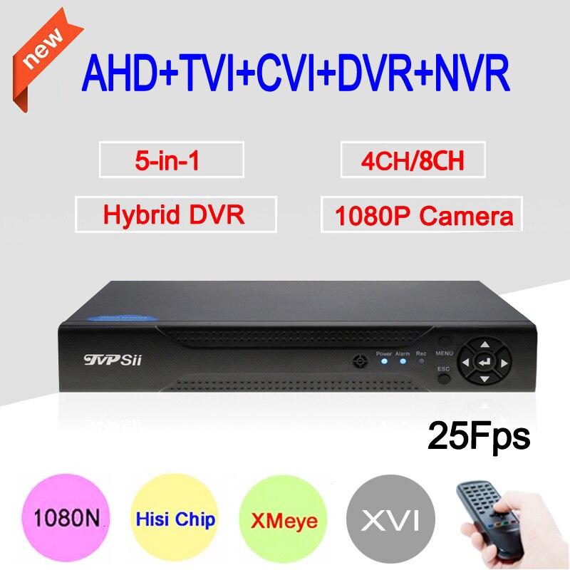 1080 P 2MP Caméra de Surveillance XMeye Hi3521A 25fps 4CH/8CH 1080N Hybride Coaxial Wifi 6 en 1 XVI TVI CVI NVR AHD DVR Livraison gratuite