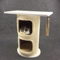 Double Tree Hole Cat Climbing Tree Sisal Barrel Cat Tower Kitten Puppy Playing Climbing House Pet Supplies Crawling Tool