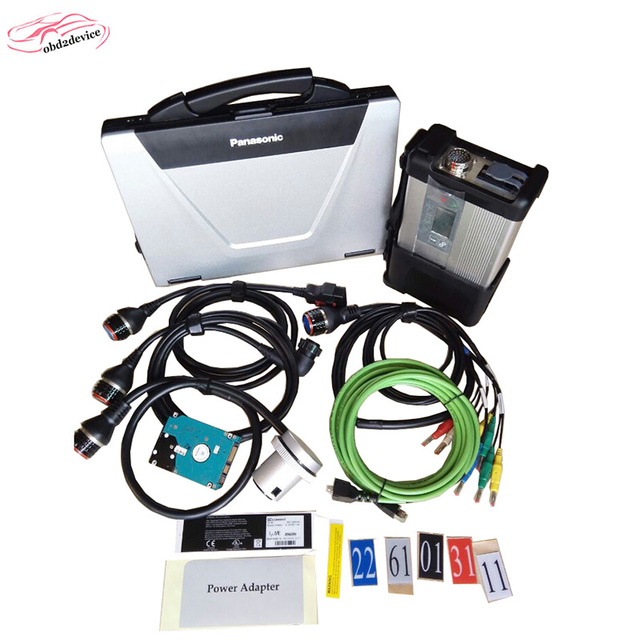 MB Star SD Connect C5 V2018.12 Car Scanner for MB Professional Diagnostic Tool Compact 5 full set with Laptop CF52 FREE SHIP