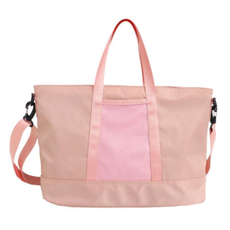 Women Waterproof Nylon Casual Totes Yoga Mat Bag Sac Sport Training Fitness Travel Handbags Lady Stylish Outdoor Sports Gym Ba