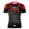 2016 Camisa Compressão 3D Punisher Marvel Superhero Capitão América Superman T Camisa Camada De Base Collants de Fitness Camisas Casuais