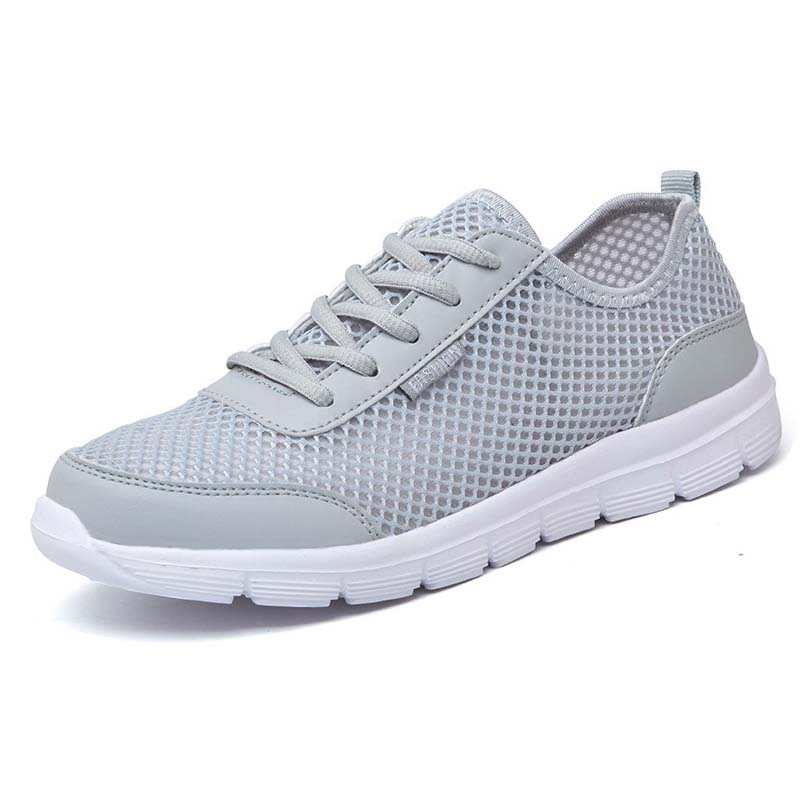 New exhibition Casual Men Shoes 2018 Summer Breathable Mesh Flats Fashion Brand Sneakers Lace up Unisex Walking shoes Size 35-48