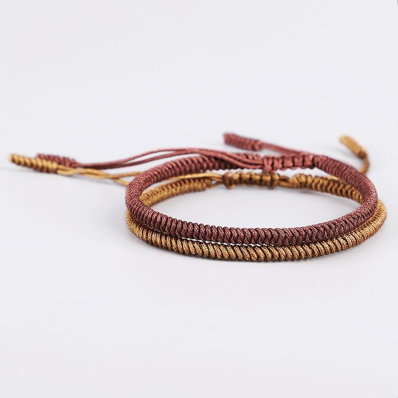 Bouddhiste noeuds Corde tibétain bouddhiste Bracelet handmade Lucky Rope Bracelet-Luck