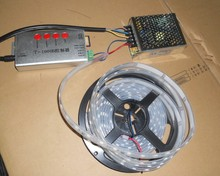 5 м DC12V 48 светод. / m 16 пикселей ) из светодиодов цифровой полосы, Водонепроницаемый в силиконовая трубка 12 В / 60 Вт питания + T-1000B sd карта