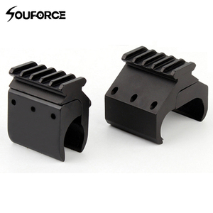 Image 3 - 1pc 2 Styles Single/Double Tube Shotgun Picatinny Rail Adaptor for 20mm Rail Mount Hunting Tactical Accessories