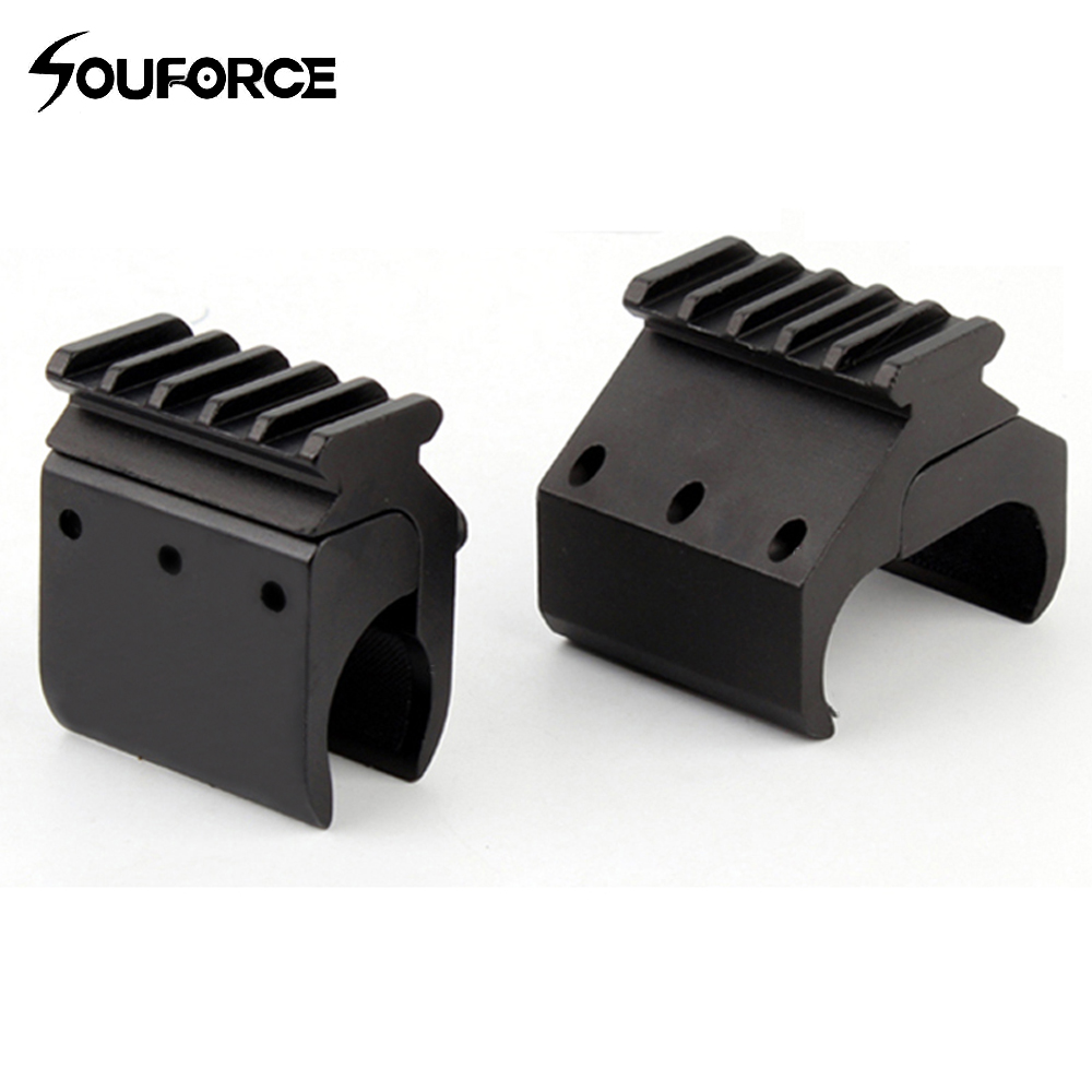 1pc 2 estilos individual/doble tubo escopeta riel Picatinny adaptador para carril de 20mm montaje de caza táctico de accesorios