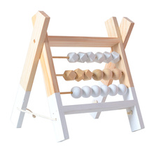 Children 3 Rows Abacus Educational Wooden Toy Kids Early Lea