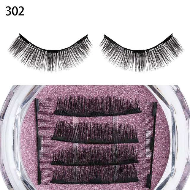 1 Set Dual/Triple Magnet False Eyelashes Extension Tools Thick Long Handmade  Magnetic Fake Lashes Natural Makeup Beauty Tools False Eyelashes