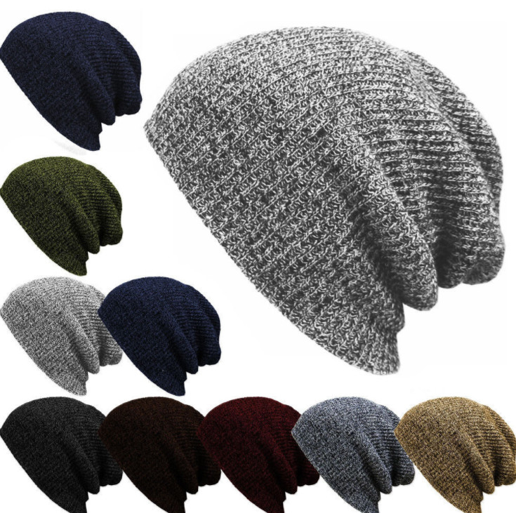 Hat Cap Female Winter Boys Women's for Outdoor Bonnet Skiing-Hat Soft Knitted 100pcs