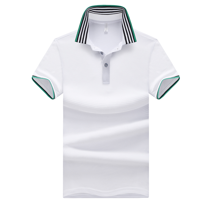 FALIZA New 2018 High Quality Brand Polos Mens POLO Shirts Slim Fit Design Breathable Men's Polos Shirts Male Tops 4XL TX-106