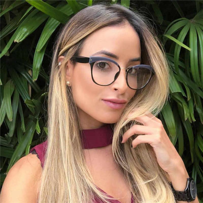 HUITUO الأزياء الرجعية النساء شفافة النظارات إطار الموضة البصرية نظارات الأدبية نظارات الطالب الذي يذاكر كثيرا نظارات وهمية نظارات