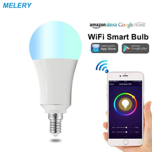 hot deal buy smart wifi led light bulb controls colour dimmable e14 7w rgbw  remote control timer homekit compatible with alexa/google home