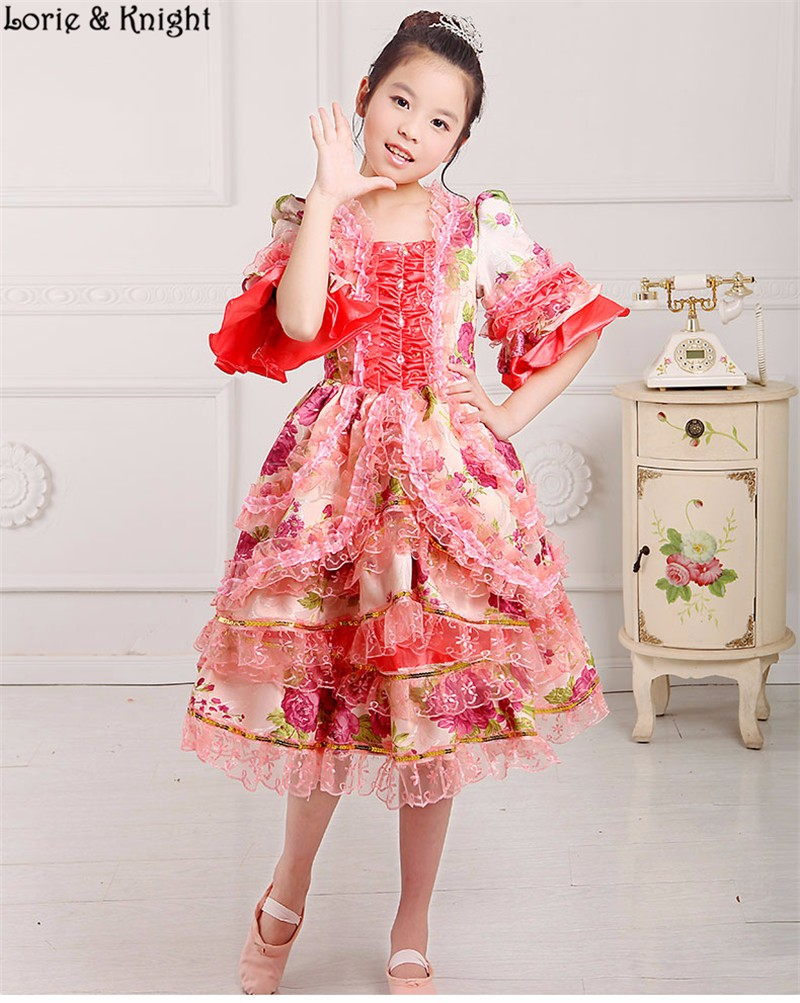 Niños Marie Antoinette inspirado vestido princesa vestido de fiesta ...
