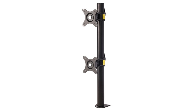Bureau Double Ordinateur Moniteur Montage Stand Vertical Tableau pour Deux Écrans Fit pour 10