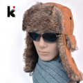 Bomber Hats 2017 High Quality winter man aviator hats Russian Hat ear flaps bomber lei feng caps for men