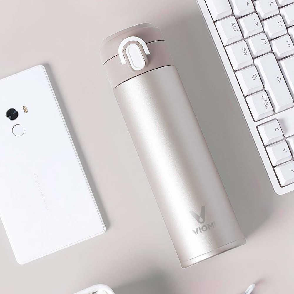 Original Xiaomi Mi Mijia VIOMI Téc Nước Chai Không Tách Thép Không Gỉ 24 Giờ Flask Nước Thông Minh Chai Phích