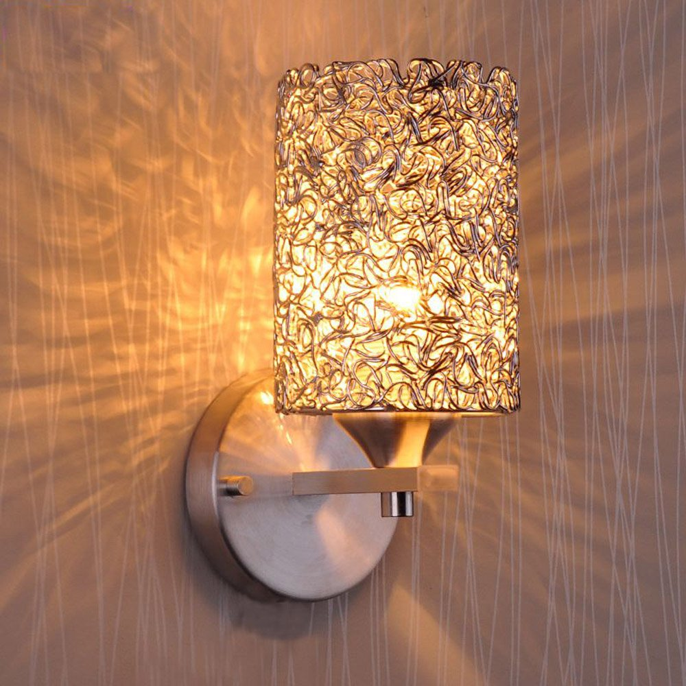 Modern Aluminume cylinder Corridor Wall Lamp Bedroom beside silver Balcony wall sconces Lighting Fixtures Porch Hallway Wall modern aluminium wall lamp sconces with fluorescent tube for bedroom study balcony lighting bg44