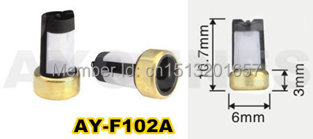 ФОТО free shipping 500picese  micro basket  fuel injector filter For ford car  ASNU003 (10.7*6*3mm,AY-F102A)
