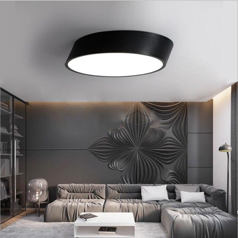 Modern Ceiling light LED lamp diameter 25cm iron baked paint body Acrylic faceplate panel for Bedroom LED light fixture led pool balls light diameter 25cm