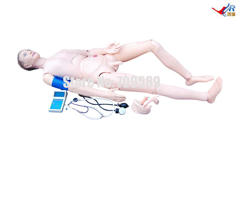Advanced Nurse Training Model with Blood Pressure Training Arm (male/female) economic injectable training arm model with infusion stand iv arm injection teaching model